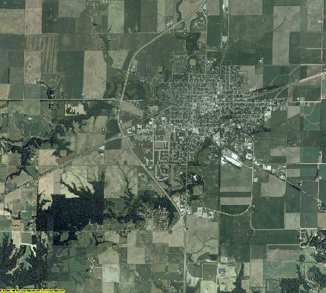 De Witt County, Illinois aerial photography