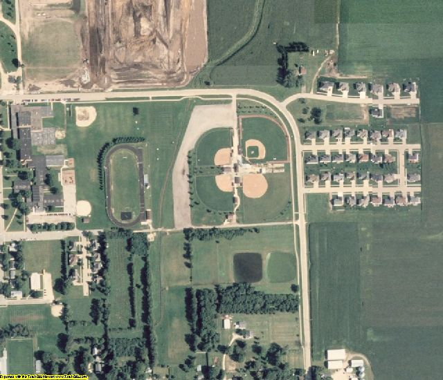 Delaware County, IA aerial photography detail