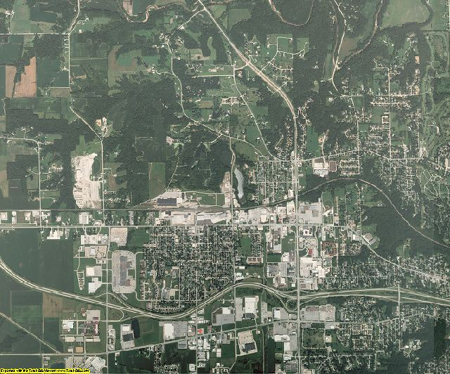 Des Moines County, Iowa aerial photography