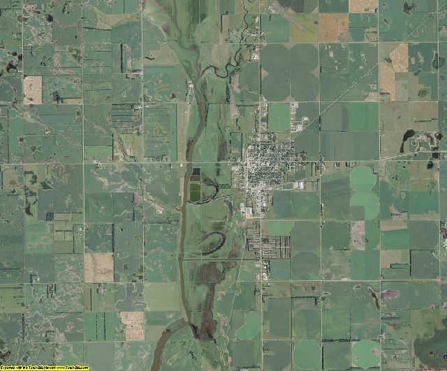 Dickey County, North Dakota aerial photography