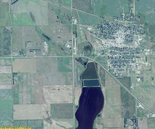 Divide County, North Dakota aerial photography