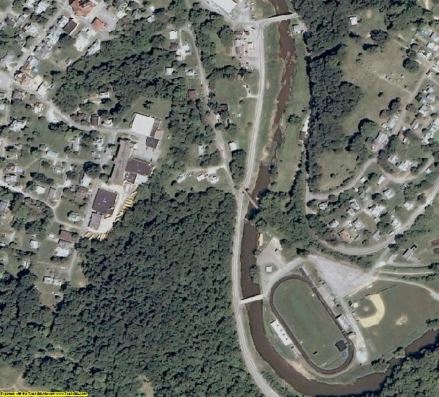 Doddridge County, WV aerial photography detail