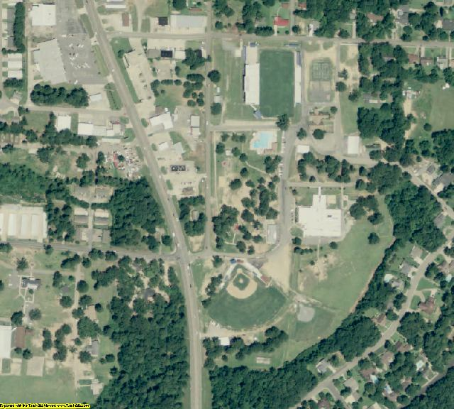 Drew County, AR aerial photography detail