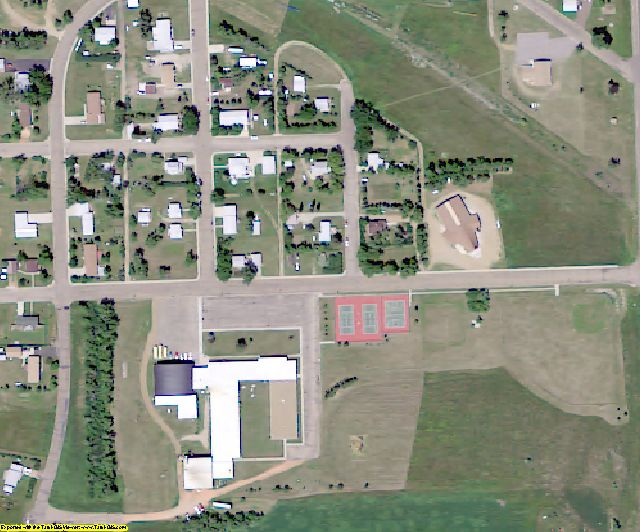 Dunn County, ND aerial photography detail