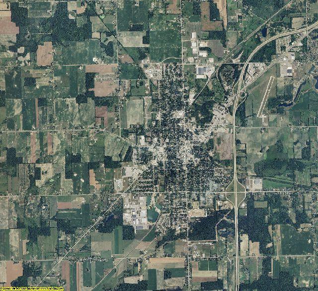 Eaton County, Michigan aerial photography