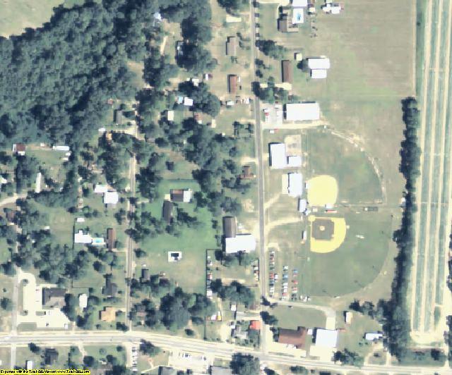 Echols County, GA aerial photography detail