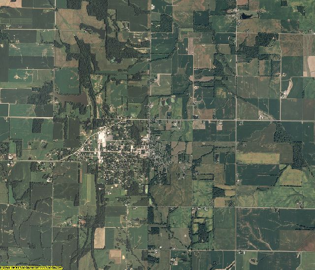 Edwards County, Illinois aerial photography