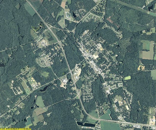 Effingham County, Georgia aerial photography