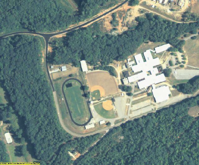 Elbert County, GA aerial photography detail