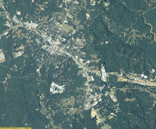 Elbert County, Georgia aerial photography