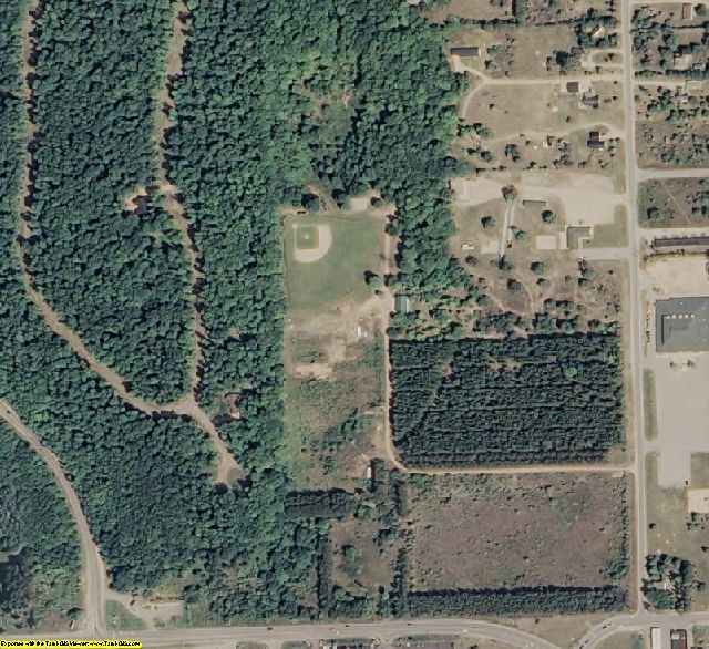 Emmet County, MI aerial photography detail