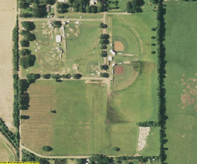Evangeline County, LA aerial photography detail