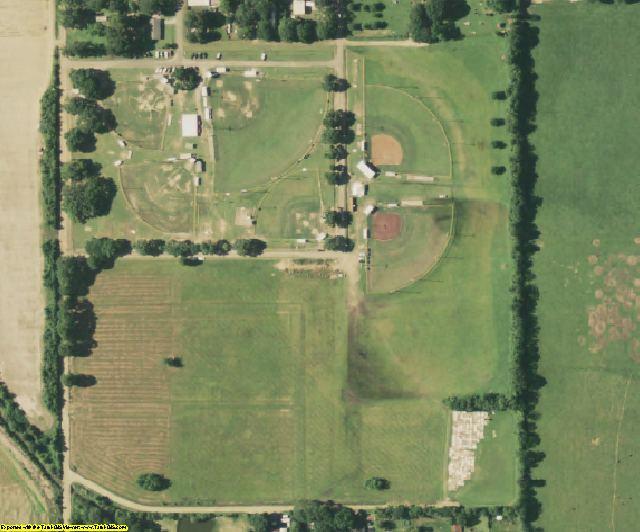 Evangeline County, LA aerial photography detail