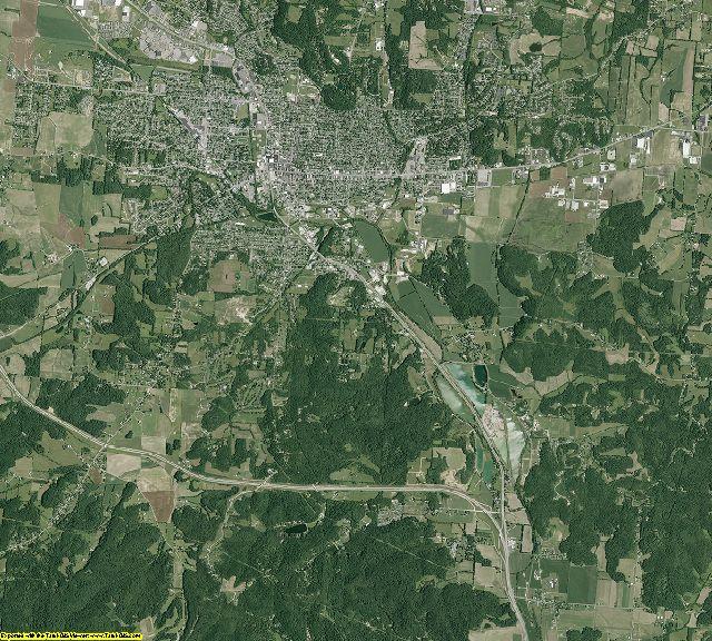 Fairfield County, Ohio aerial photography