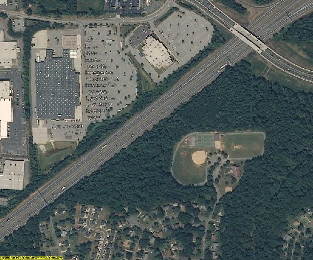 Forsyth County, NC aerial photography detail