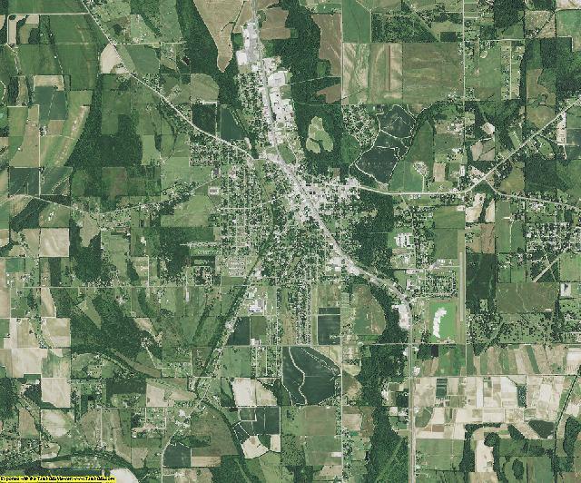 Franklin County, Louisiana aerial photography