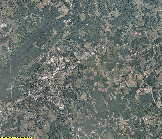 Franklin County, Virginia aerial photography