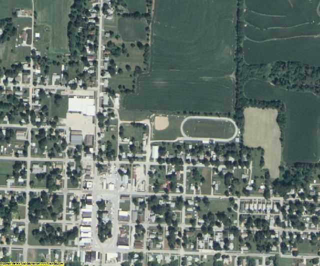 Fremont County, IA aerial photography detail