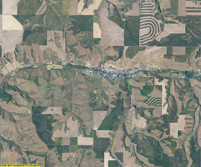 Garfield County, Washington aerial photography