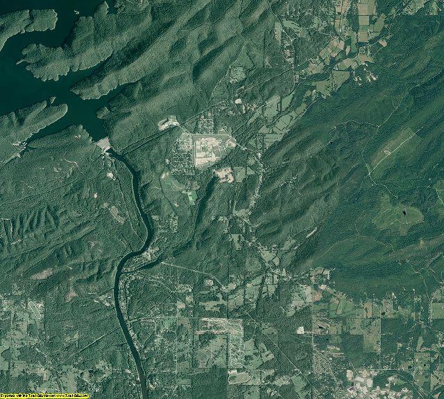 Garland County, Arkansas aerial photography