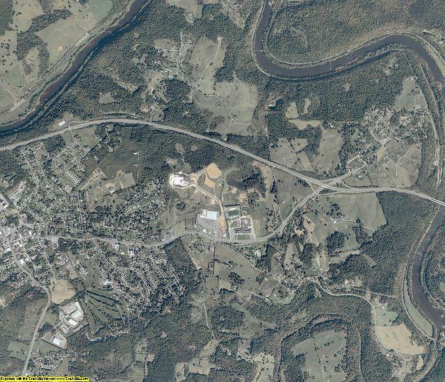 Giles County, Virginia aerial photography