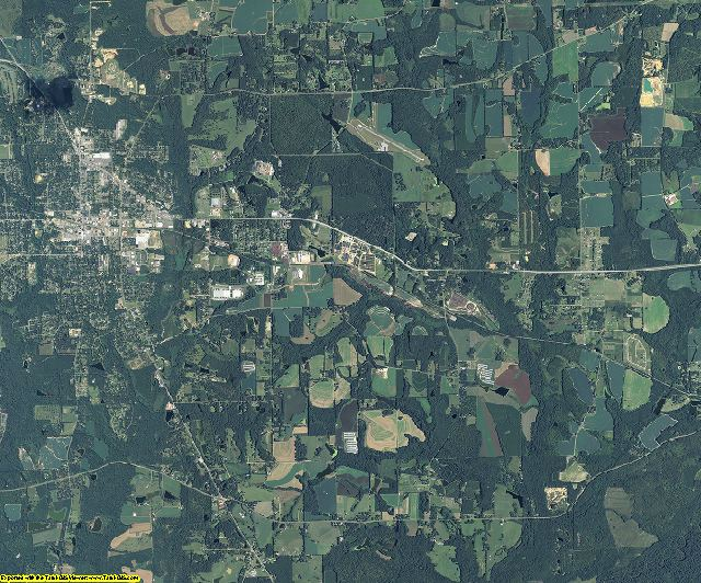 Grady County, Georgia aerial photography