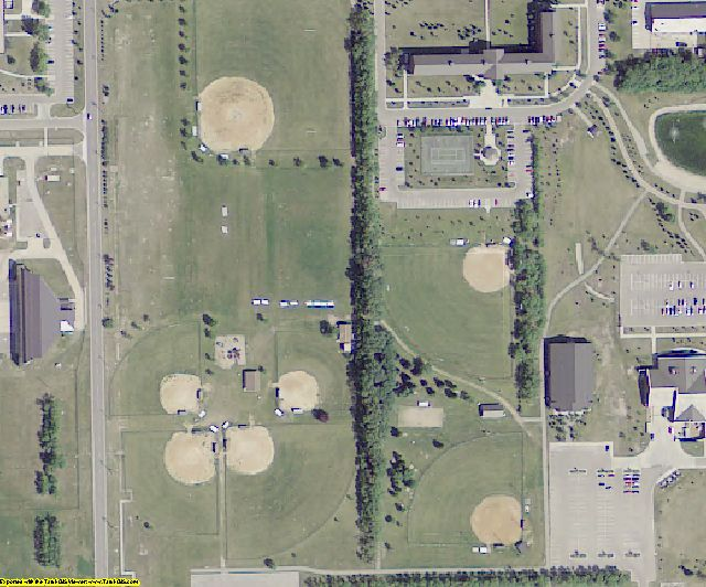Grand Forks County, ND aerial photography detail