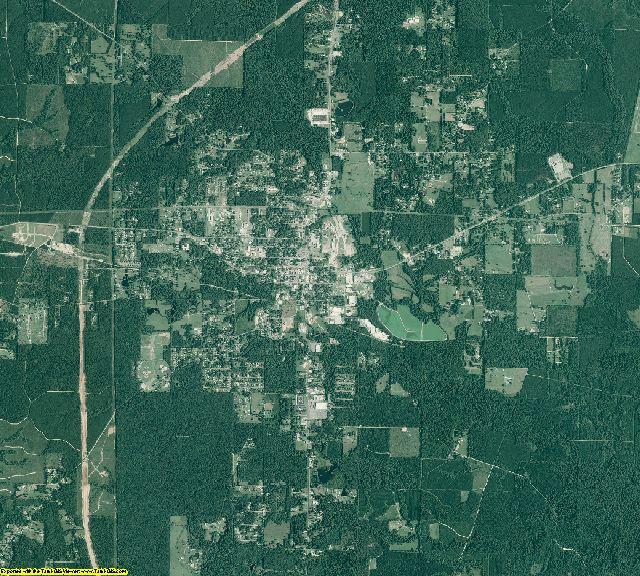 Grant County, Arkansas aerial photography