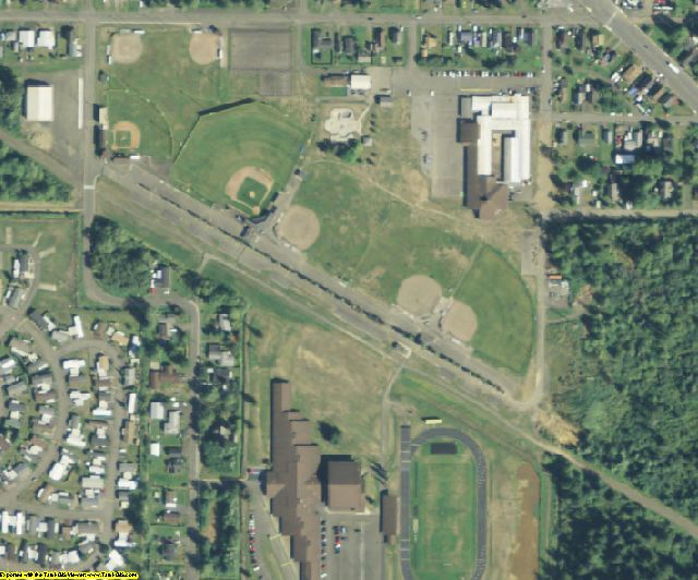 Grays Harbor County, WA aerial photography detail