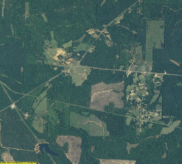 Greene County, Alabama aerial photography