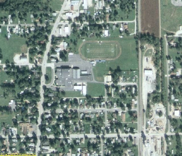 Greene County, IL aerial photography detail