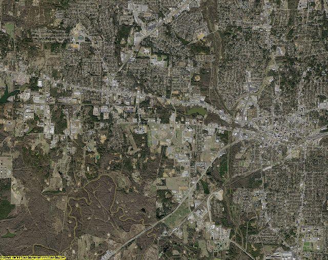 Gregg County, Texas aerial photography