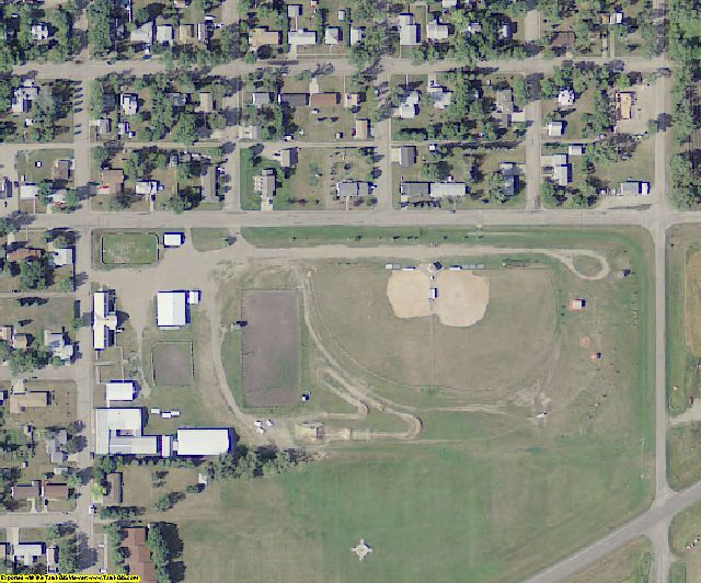 Griggs County, ND aerial photography detail