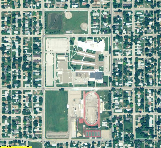 Hall County, NE aerial photography detail
