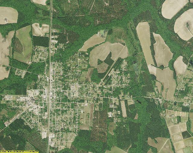 Hampton County, South Carolina aerial photography