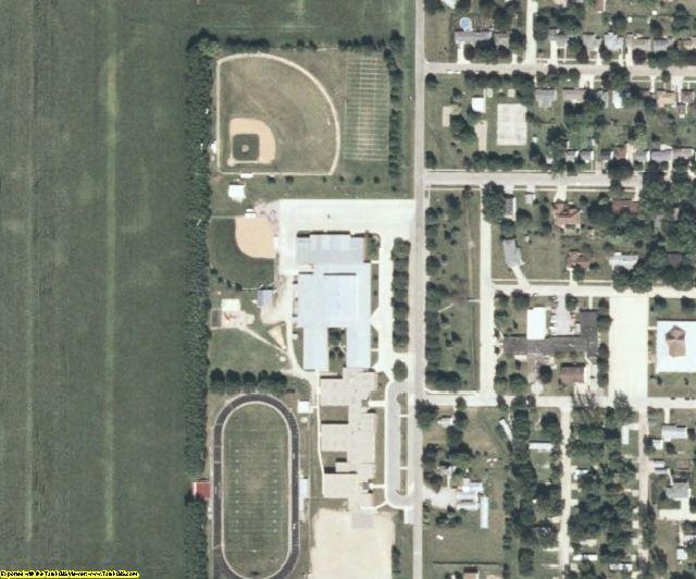 Hancock County, IA aerial photography detail