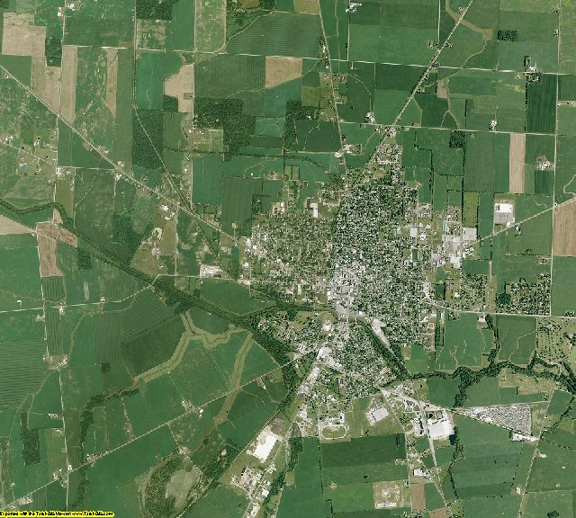 Hardin County, Ohio aerial photography