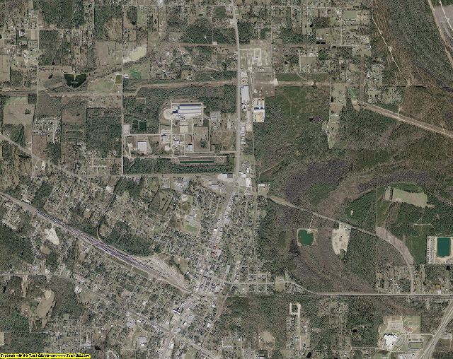 Hardin County, Texas aerial photography