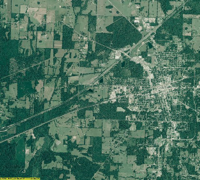 Hempstead County, Arkansas aerial photography