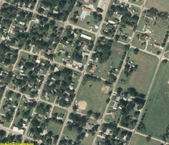 Henderson County, IL aerial photography detail