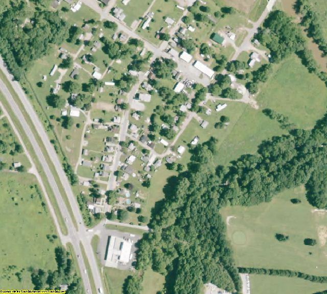 Hocking County, OH aerial photography detail