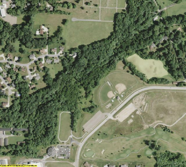 Holmes County, OH aerial photography detail
