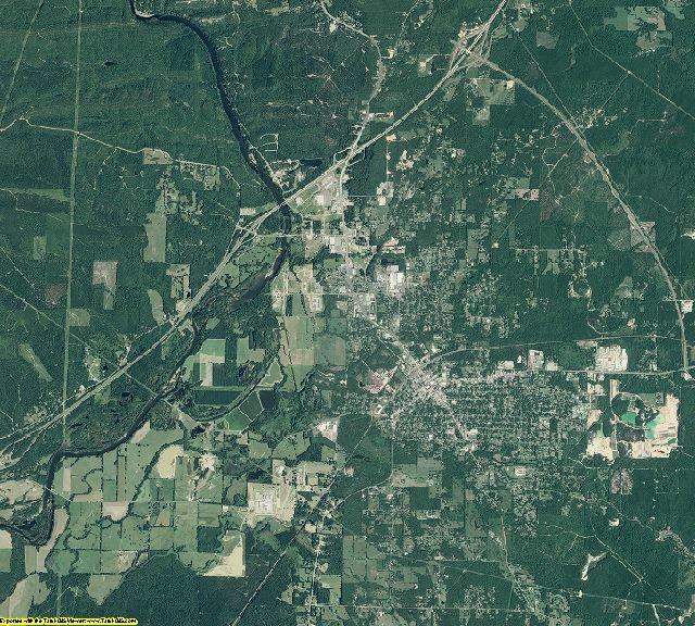 Hot Spring County, Arkansas aerial photography