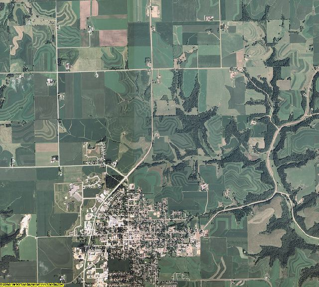 Houston County, Minnesota aerial photography