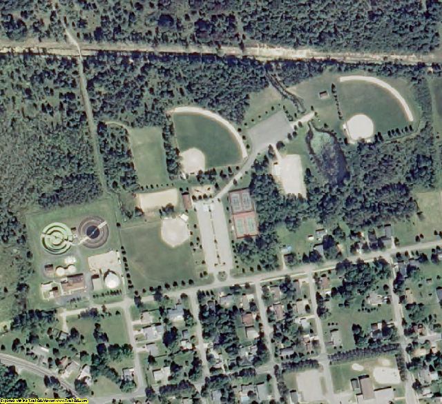 Iosco County, MI aerial photography detail