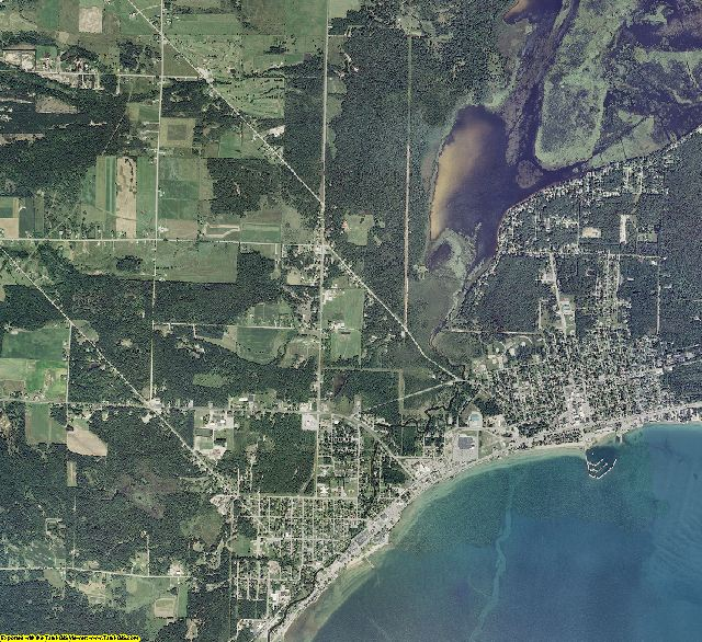 Iosco County, Michigan aerial photography