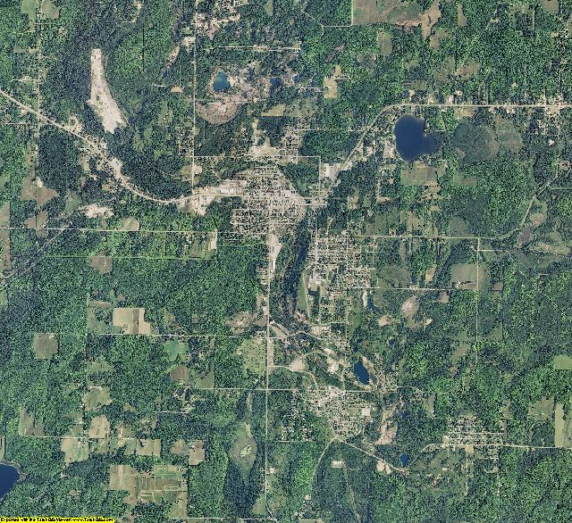 Iron County, Michigan aerial photography