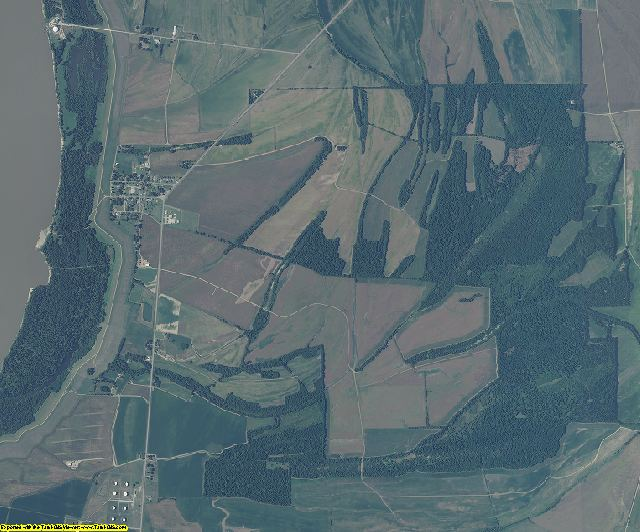 Issaquena County, Mississippi aerial photography