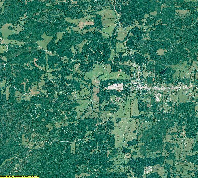 Izard County, Arkansas aerial photography