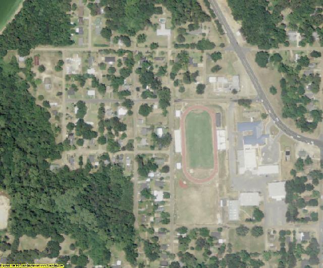 Jackson County, LA aerial photography detail